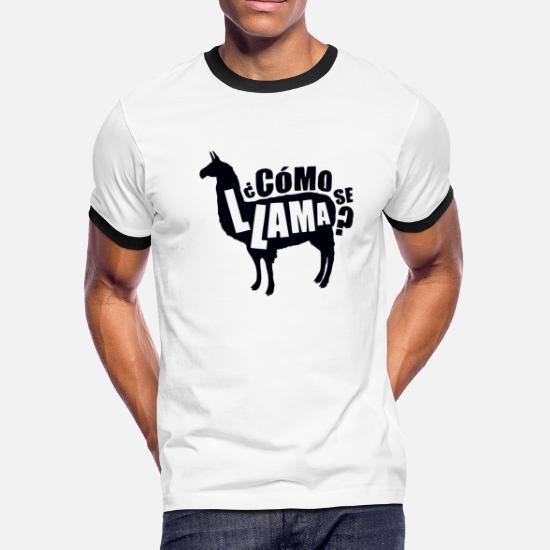 a8e8a7ed Spanish T-Shirts - Como Se Llama Funny Spanish Espanol Name Pun - Men's  Ringer