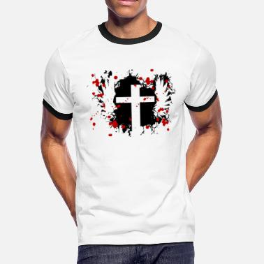 Wings Cross Cross with wings - Men's Ringer T-Shirt