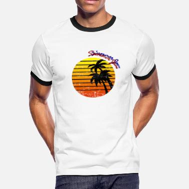 Tropical Summer Jam vibes tropical groove beach cocktail - Men's Ringer T-Shirt