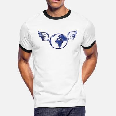Commitment earth with wings - Men's Ringer T-Shirt
