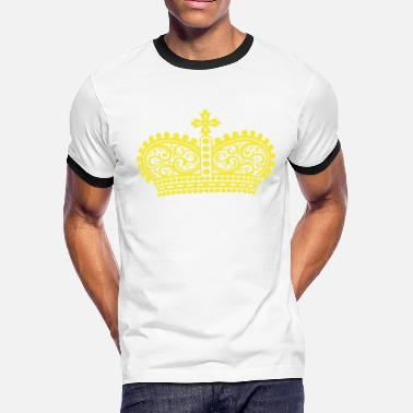 Rap Draw golden crown the king of rap drawing graphic arts - Men's Ringer T-Shirt