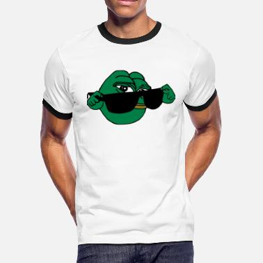 Frog Pepe Pepe the Frog Sunglasses Obey - Men's Ringer T-Shirt