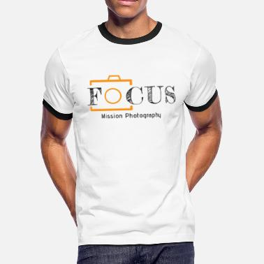 12x7 Focus Black - Men's Ringer T-Shirt