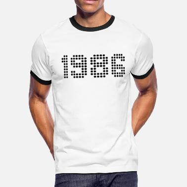 1986 1986 - Men's Ringer T-Shirt