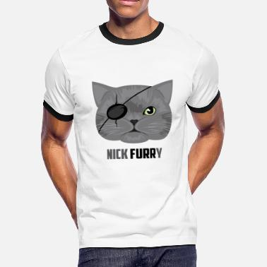 Furry Cat Nick Furry Cat / Katze - Men's Ringer T-Shirt