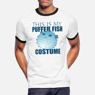 Squab Funny Puffer Fish - This Is My Costume - Humor - Men's Ringer T-Shirt