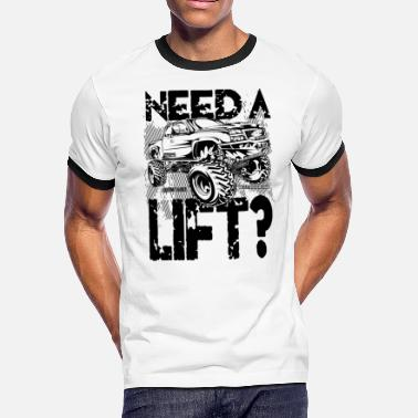 Lifted Truck Need a Lift - Men's Ringer T-Shirt