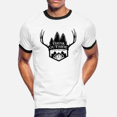 Think outside - Think Outside - No box required! - Men's Ringer T-Shirt