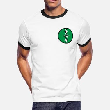The Yin Yang abstract (green background) - Men's Ringer T-Shirt