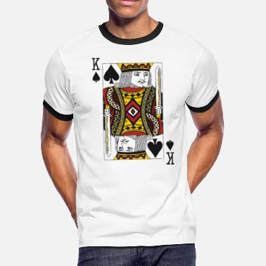 King King of Spades - Men's Ringer T-Shirt