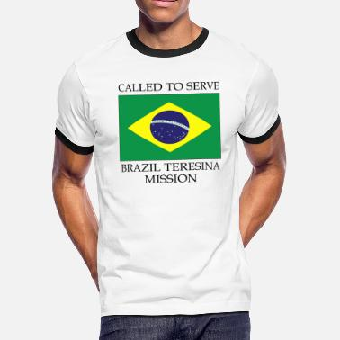 Brazil Brazil Teresina LDS Mission Called to Serve Flag - Men's Ringer T-Shirt