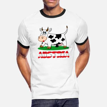 Austria Funny Austria and funny cow - Men's Ringer T-Shirt