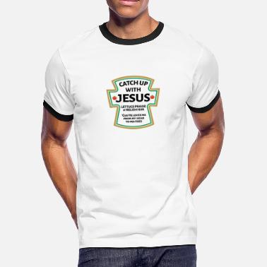 09ba80f5 Catch Up With Jesus catch up with Jesus,Christian Bible - Men'. Men's  Ringer T-Shirt
