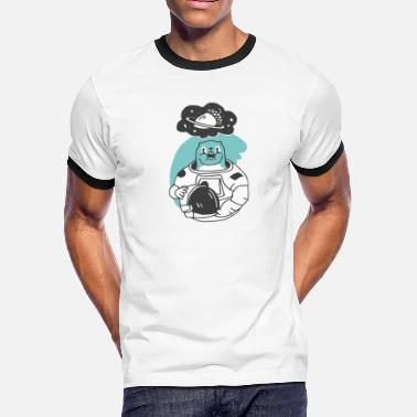 Funny Space Space Squirrel Space Funny Cartoon - Men's Ringer T-Shirt