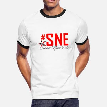 Snes SNE Summer Never End - Men's Ringer T-Shirt