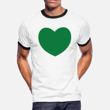 Dark Green Dark Green Heart - Men's Ringer T-Shirt