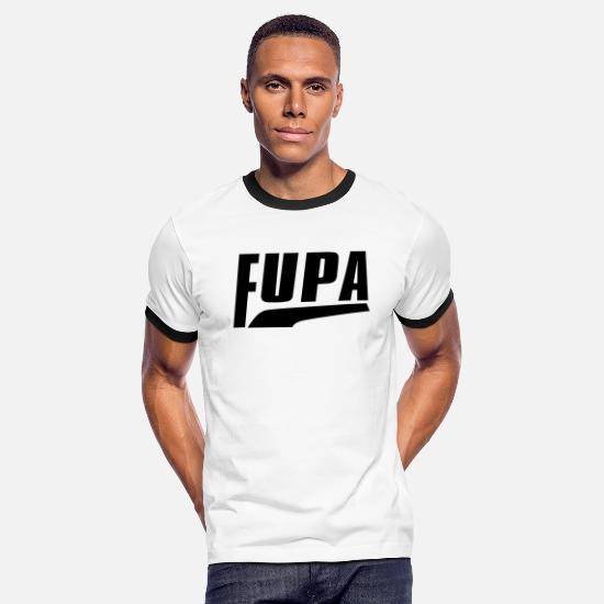 Fupa T-Shirts - FUPA - Men's Ringer T-Shirt white/black