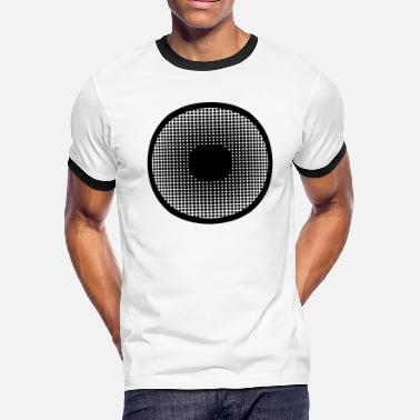 Pupil Eye pupil hafltone big eye watching looking observe - Men's Ringer T-Shirt