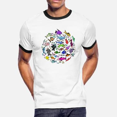 Size Charts A Swirl of Fish - Men's Ringer T-Shirt