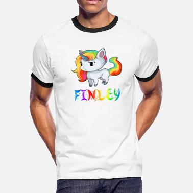 Finley Finley Unicorn - Men's Ringer T-Shirt