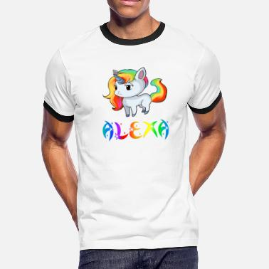 Alexa Alexa Unicorn - Men's Ringer T-Shirt