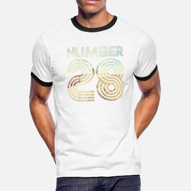 28 Anniversary Number 28 - Men's Ringer T-Shirt