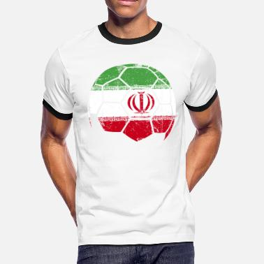 Iran Soccer Jersey Iran Soccer Football Ball - Men's Ringer T-Shirt