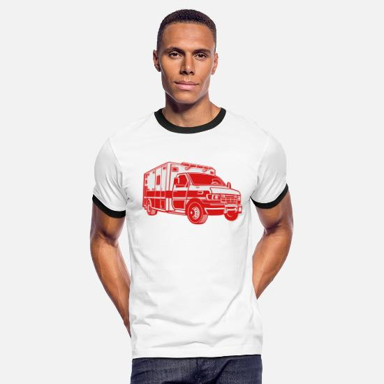 First Aid T-Shirts - ambulance - Men's Ringer T-Shirt white/black