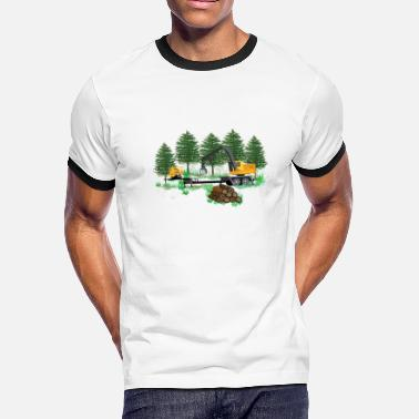 Just Another Day At The Office Log Loader Logging - Men's Ringer T-Shirt