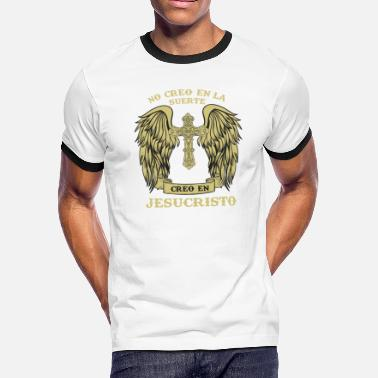 Jesucristo Christian Angel Wings Jesucristo Religious Tshirt - Men's Ringer T-Shirt