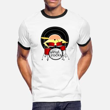 Vinyl record drums vinyl all shops - Men's Ringer T-Shirt