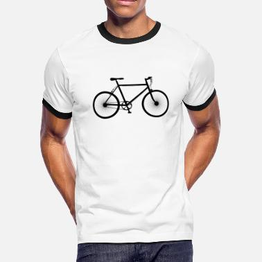 Bike Silhouette Mountain Bike, MTB, Silhouette - Men's Ringer T-Shirt
