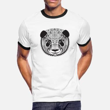 Panda inspired by aztecs - Men's Ringer T-Shirt