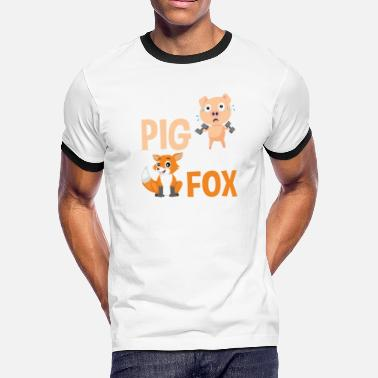 Sweat Like A Pig Sweat Like A Pig To Look Like A Fox Workout - Men's Ringer T-Shirt