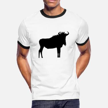 Wildebeest Wildebeest - Gnu - Men's Ringer T-Shirt