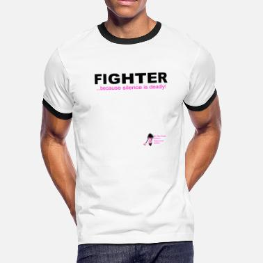 Domestic Violence Awarenes Domestic Violence Fighter - Men's Ringer T-Shirt