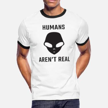 Arenal humans aren t real - Men's Ringer T-Shirt