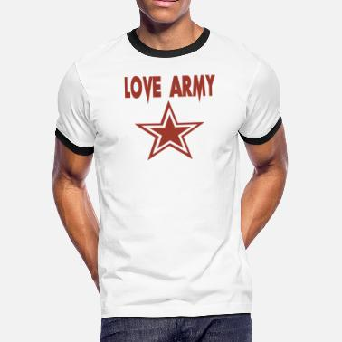Army Love love army Funny love - Men's Ringer T-Shirt