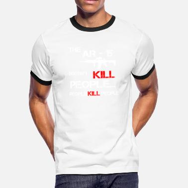 Cyprus ar 15 m 16 m4 doesn t kill people weapon my weapon - Men's Ringer T-Shirt
