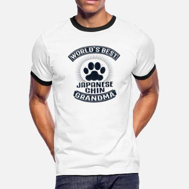 Japanese Grandma World's Best Japanese Chin Grandma - Men's Ringer T-Shirt
