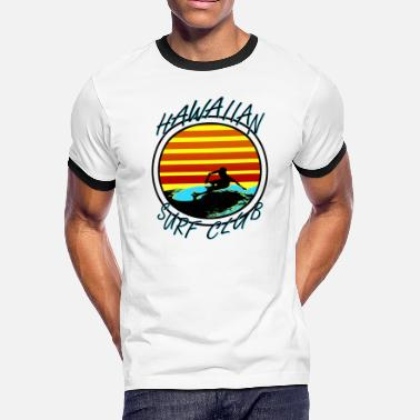 90s Surfing Hawaiian Surf Club - Men's Ringer T-Shirt