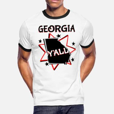 Georgia State Y all - Men's Ringer T-Shirt