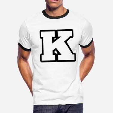 K Alphabet K from alphabet 1 - Men's Ringer T-Shirt