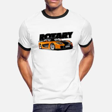 Fast And Furious 7 Fast Furious : Han's Mazda RX 7 - Men's Ringer T-Shirt