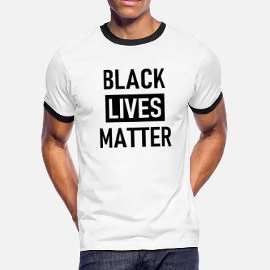 Black Lives Matter - Stop Racism - USA - BLM - Men's Ringer T-Shirt