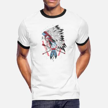 Apache Native American The leader native american apache sioux - Men's Ringer T-Shirt