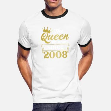 2008 The Queen Reigning Since 2008 - Men's Ringer T-Shirt