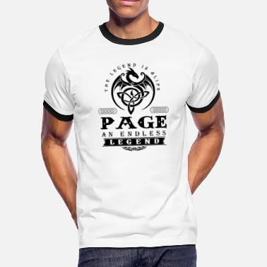 Pages PAGE - Men's Ringer T-Shirt