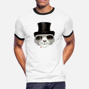 rocker cat - Men's Ringer T-Shirt