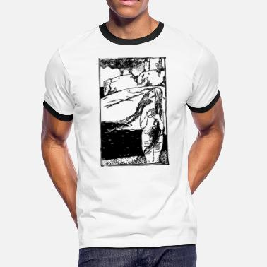 Folklore Naked Lady and Castle - Men's Ringer T-Shirt